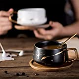 Coffeezone 10.5 Oz Matte Ceramic Marble Tea