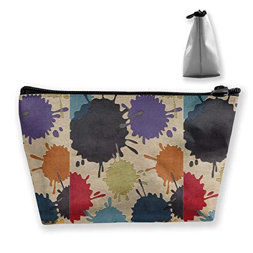 (Trapezoidal Storage Splashed Ink Personalized Women Cosmetic Bag Travel Handbag Purse Wallet)