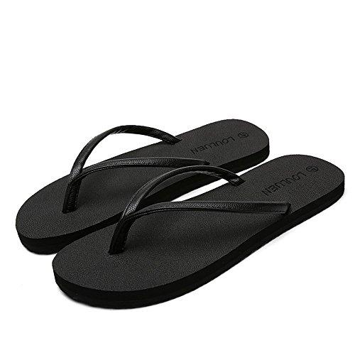 EU Flip da da Spiaggia Donna da Antiscivolo per Dimensione 37 Flop Color Nero Sandali Uomo e Minimalista UBaqUrw