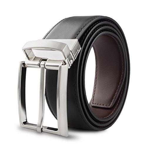 K.Tuohy Men's Leather Dress Belt Leather 1.25