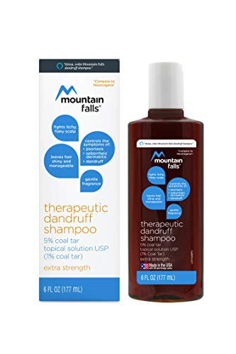 Mountain Falls Therapeutic Dandruff Shampoo 5% Coal Tar Topical Solution, Extra Strength, 6 Fluid Ounce