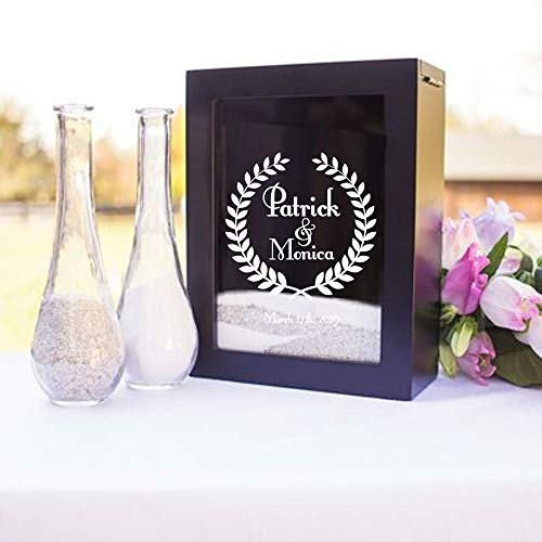Unity Sand Ceremony Shadow Box Set, Wedding Table Decoration, Free Engraving -