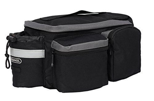 Roswheel 14024 Convertible Bike Bicycle Rear Rack Seat Pannier Trunk Bag with Cup Holder by Roswheel