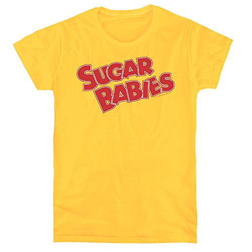 Trevco Tootsie Roll Sugar Babies Women's T Shirt, Large Yellow -