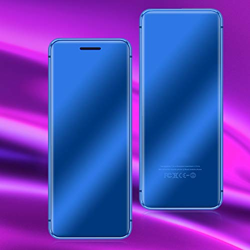 Mini Phone, Cell Phone V66+ Ultra‑Thin Sim Card Dual Card Slot for Students for School for Kids(Blue)