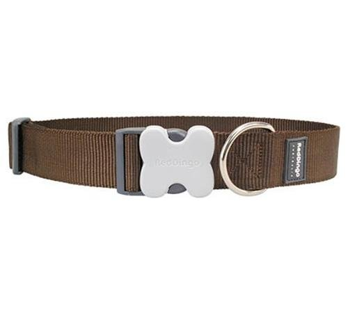 Red Dingo Classic Dog Collar, Giant Long, Brown