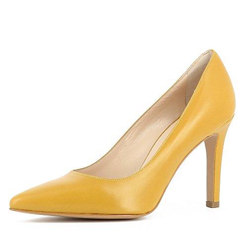 Evita Shoes Ilaria - Zapatos de vestir de Piel para mujer Ocre