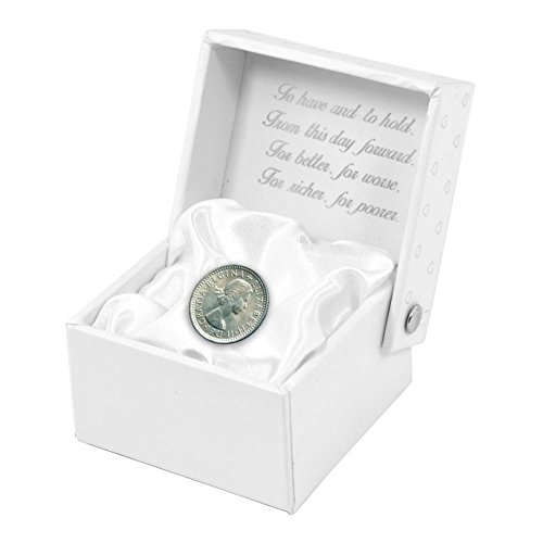 Lucky Bridal Gift Boxed Sixpence Wedding - Pence Silver Coin