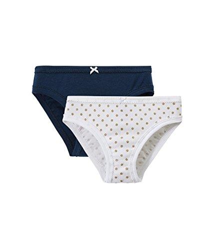 Petit Bateau Girls 2 Pack Solid-Printed Underwear/Panties Sizes 2-12 Style 43331 (Size 10 Style 43331 (Petit Bateau Cotton Panties)