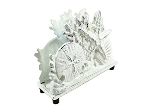 Rustic-Whitewashed-Cast-Iron-Seashell-Napkin-Holder-7-Seashell-Decoration