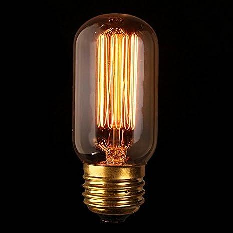 PhilMat E27 60w vintage antiguo bombilla incandescente edison vidrio transparente 220v / 110v: Amazon.es: Iluminación