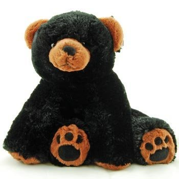 Super Soft & Floppy Stuffed Black Bear Plush Toy with Weighted Feet - Stands up 11