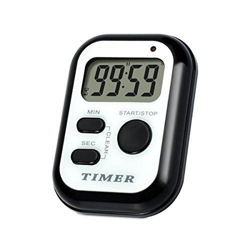 Digital Cycle Countdown Timer Clock - AIMILAR Small Repeat Cycling Count Up Down Timer Mini Pocket Wearable Repeating Countdown Timer