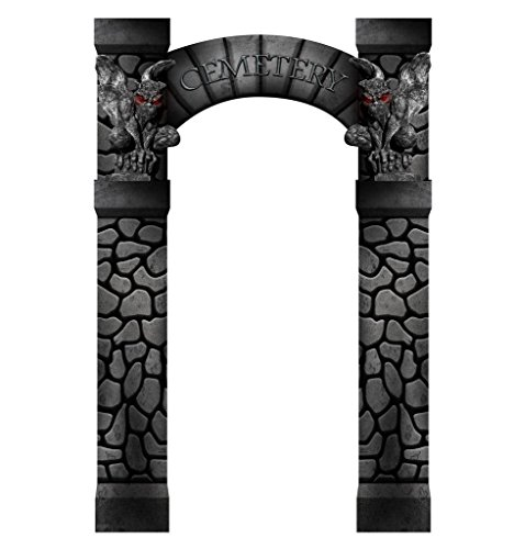 Cemetery Arch Entrance - Advanced Graphics Life Size Cardboard (Halloween Entrance Prop)