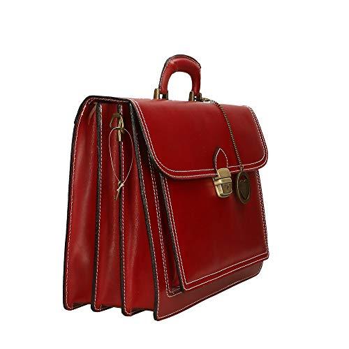 39x30x18 Bag Borse Chicca Mano Made Italy Rosso Portadocumenti Pelle A Borsa Cm In Hv5Z5q