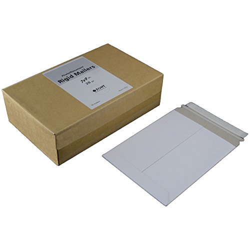 Zont Rigid Mailers Photo Document Mailers Stay Flat Mailers, Box Of 25 (7 x 9 Inches)