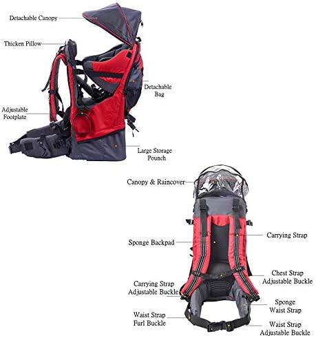 Fesjoy Baby Backpack,Hiking Toddler Child Holder Backpack with Sunshade Visor