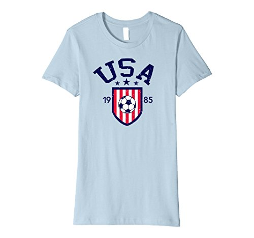 Womens Vintage USA Woman's Soccer T-shirt Small Baby ()