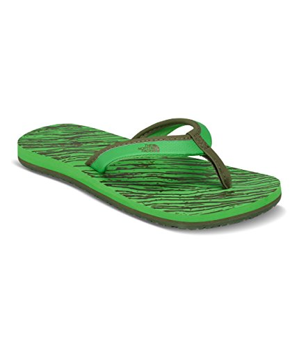 The North Face Youth Base Camp Mini Flip Flops - Classic Green and Burnt Olive Green - 5 - North Face Mini Base