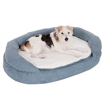 Gris de perro cama, y transpirable cama ortopédica de espuma con funda extraíble y lavable. - Ideal para perros o perros deportivos de edad: Amazon.es: ...