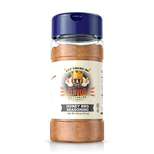 (Flavor God Seasonings, Gluten Free, Low Sodium, Paleo, Vegan, Honey BBQ Seasoning, 5 oz)
