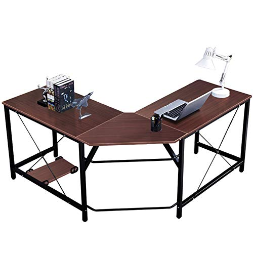 DlandHome L-Shaped Computer Desk 59