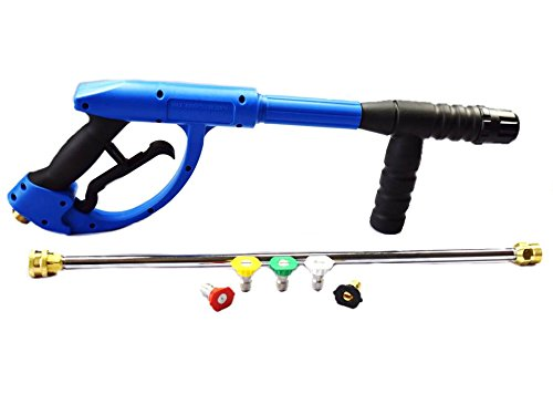 American Hydro Clean AHCGUNKIT1 M22 Ergo Pressure Washer Gun 4200PSI, 20'' Lance and 3.0 Nozzle kit, Blue (Pack of 3)