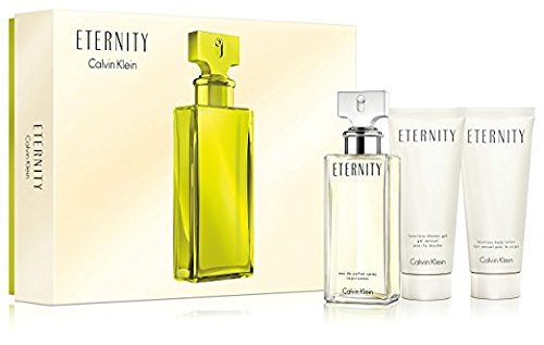 ETERNITY Gift Set for WOMEN - 3.4 oz. EDP Spray + 3.4 oz. Body Lotion + 3.4 oz. Shower Gel - OR EMAIL FOR ANY OTHER PERFUMES - 100% AUTHENTIC & ORIGINAL - No Exceptions (Eternity For Women)