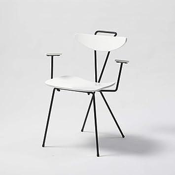 NMDB Chaise Nordique Moderne Lumiere Luxe Fer Creatif Restaurant Loisirs Designer Maison Couleur