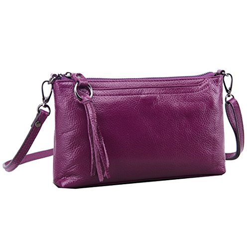 Purple Crossbody Purse Clutch Missmay Shoulder Women's Plus Bag Fit Leather 6 Wallet Messenger Iphone nqwITfgOI