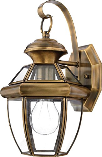 Antique Brass Outdoor Wall Light