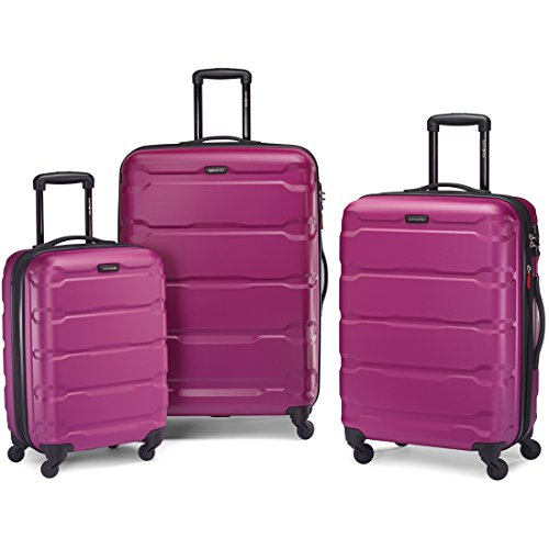 Samsonite Omni PC 3 Piece Set Spinner 20 24 28, Radiant Pink, One Size
