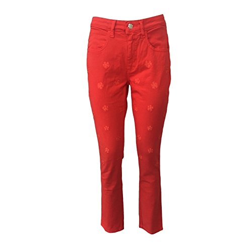 Tinta Rosso Con In Italy Made Push Ricami up Donna Luxury Beam Jeans Mod Pamplona qczURgxp
