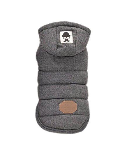 [Winter super warm and soft cotton padded pet dog jacket (XL, Gray)] (Best Halloween Costume Florida)