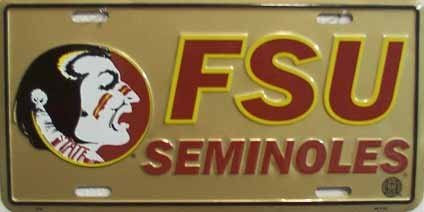 Florida State University Seminoles Collegiate Embossed Metal Novelty License Plate Tag Sign 409 - University Florida Seal