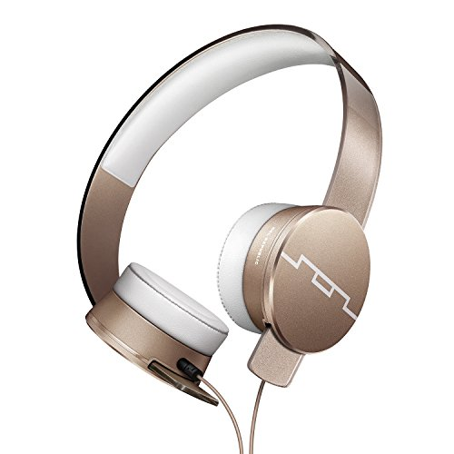 SOL REPUBLIC Tracks HD2 On-Ear Headphones - Noise Isolation, Cable with Mic + 3 button Remote, Virtually indestructible, Lightweight, Carrying Case, SOL-HP1251GD Gold