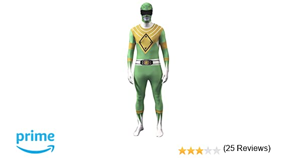 Morphsuits Adulti ufficiali Verde Traje de Power Ranger - Mediano 47