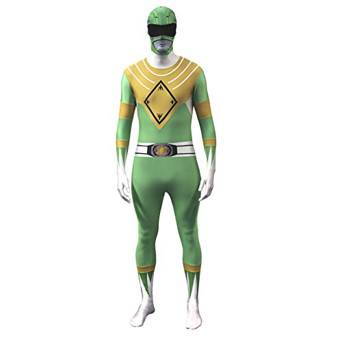 Official Power Ranger Morphsuit Costume,Green,Small 4'6