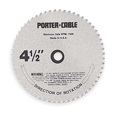 PORTER-CABLE 12122 4-1/2-Inch 80 Tooth L - 3/8