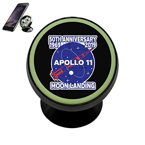- CKSJZJ Apollo 11 50th Anniversary N.A.S.A Moon Landing 2019 Magnetic Phone Car Mount Holder 360 Rotation Magnetic Car Phone Holder Stand