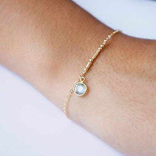 Morse Code Bracelet Gift For Women Personalized Bracelet Custom Bridesmaid Gift Birthstone Beaded Bracelet Inspirational Gift Secret Word