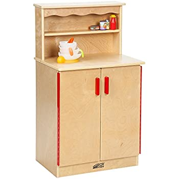Amazon Com Ecr4kids Birch Pretend Play Kitchen Cupboard