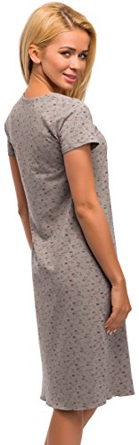 Merry Style Camisón peara mujer Modelo 960 Gris