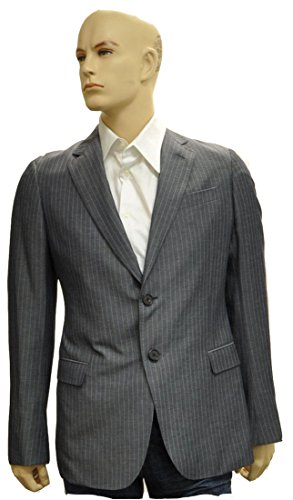 Armani Collezioni Grey Polyester Jacket Coat, 38R, Grey
