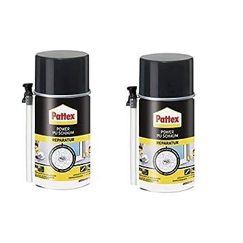 2 x Pattex Power Reparación de espuma de poliuretano 300 ml ...