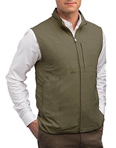 Scottevest Rfid Travel Vests For Men With Pockets Olive