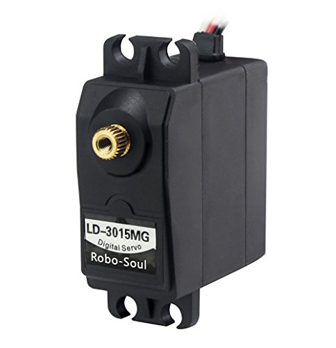 LewanSoul LD-3015MG Standard Full Metal Gear Digital Servo with 17kg High Torque for RC Robot Car(Control Angle 270)