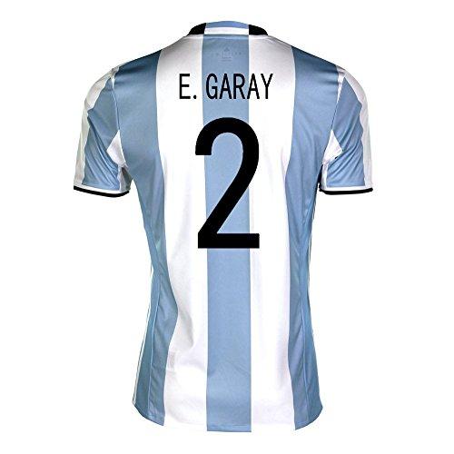 消化器折農業adidas E. Garay #2 Argentina Home Soccer Jersey Copa America Centenario 2016 YOUTH/サッカーユニフォーム アルゼンチン ホーム用 ガライ ジュニア向け