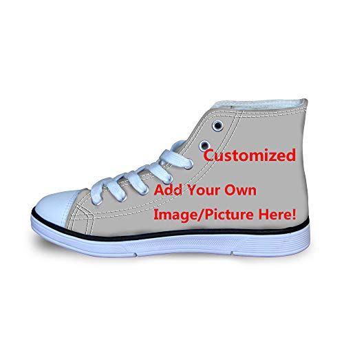 3b3585e3e9399 Coloranimal Custom Your Own Image High Top Canvas Sneakers for Toddler Kids  Unique Personality Lace-up Flats