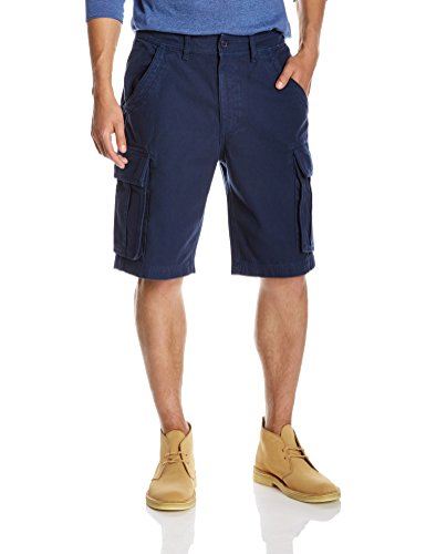 Quality Durables Co.. Men's Loose-Fit Cargo Short 40 x 11.5 Navy -